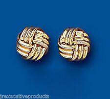 Knot earrings knot Studs Yellow Gold knot earrings 6mm