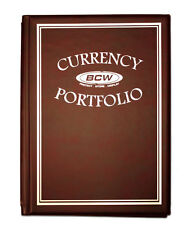 CURRENCY COLLECTING ALBUM includes 10 3-pocket PROTECTIVE PAGES*BURGUNDY
