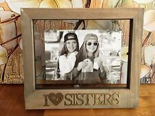 """I Love My Sisters Wooden Photo Picture Frame 6x4"""" Home Office Decor Gift Present"""