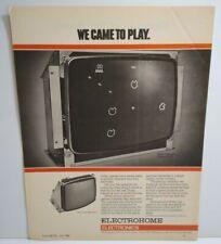Electrohome Video Arcade Game XY Monitor Promo AD Artwork 1980 Retro Atari
