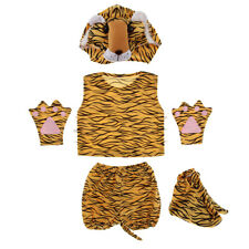 1 Set Kid Animal Costume Tiger Hat Shoes Party Halloween Cosplay Costumes