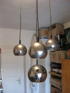 Deckenlampe, 80er Jahre, Kugellampe