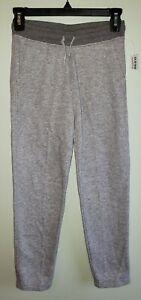NEW Old Navy Boys SIZE 8 Classic Slim Taper Sweatpants GRAY Fleece #21121