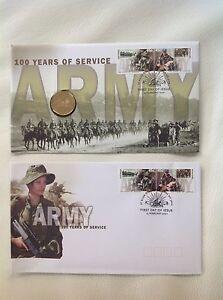2001 - Australia - AUSTRALIAN ARMY 100 Years of Service PNC & FDC