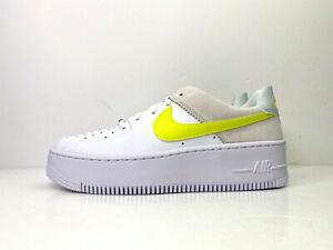 Nike W Air Force 1 Sage Low Shoes White Yellow UK 5.5 EU 39 US 8 CW2652 100
