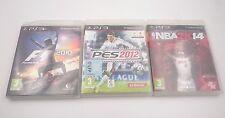 PACK 3 JUEGOS: F1 2010 PES 2012 y NBA 2K14 SONY PLAYSTATION PS3 PAL ESPAÑA