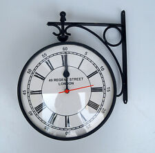 "Victorian style wooden wall station clock 8"" nautical wall mounted decorative"