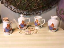 NEW Brambly Hedge Miniature Coffee Pot Mug Vase & Jar W/ Cork
