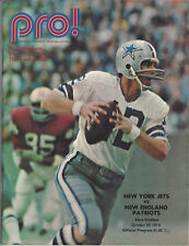 1972 New York Jets Program vs New England Patriots Shea Stadium October 29