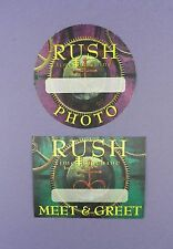 Rush - Original Backstage Passes - Time Machine Tour 2010 - Unused Stock !