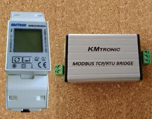 SDM230 Modbus Energy Meter and Modbus LAN TCP to Modbus RTU Converter (COMPLETE)