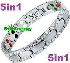 TITANIUM Magnetic Energy Germanium Armband  Power Bracelet Health JADE 5in1 Bio