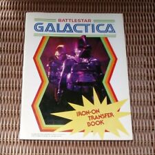 New Vintage 1979 Book Battlestar Galactica Iron On Transfers for T-shirts & More