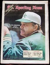 11-4-72 SPORTING NEWS OAKLAND A'S WIN WORLD SERIES DICK WILLIAMS ON COVER