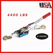 Us 2 Ton Heavy Duty Retractor Hoist Hand Puller 2 Hooks Cable Come Along Tighter