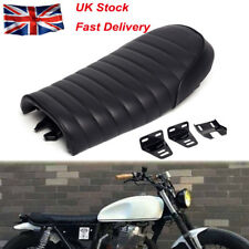 Universal Motorcycle Cafe Racer Seat Flat Brat Hump Saddle For Yamaha Honda Fa