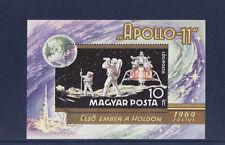 Hongrie  bloc  l' homme sur la lune  espace  Apollo 11    num: BF 79   oblitéré