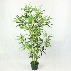 Large Artificial Bamboo Plant 4 ft Outdoor Indoor Potted Tree Home Office