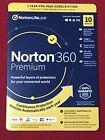 Norton 360 Premium Antivirus 2021, 10 PC Mac Android iOS 1 Year, Sealed Key-Card