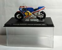 IXO / DEAGOSTINI 1:24 SCALE DIECAST HONDA NS500 - FREDDIE SPENCER 1983 - CASED