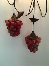 Two Red Grape lights, pendant fitting.
