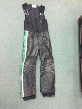 Mens Vintage 1970s Arctic Wear Leather Bibs S Arctic Cat Snowmobile greens black