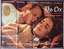 Cinema Poster: OX, THE 1993 (Quad) Stellan Skarsgård Ewa Fröling Sven Nykvist