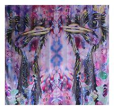Designer Scarf Large ✦ 100% Silk Satin ✦ Bright Ostrich by Coco & Sebastian