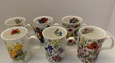 6 English Rose Coffee Tea Cups Fine Bone China Roy Kirkham 1992 England 10 Oz
