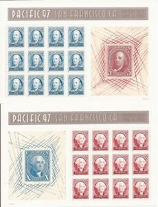 US Stamp - 1997 Pacific 97 - Set of 2 Souvenir Sheets - Scott #3139-40