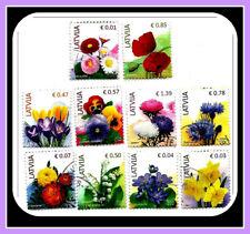 2014 Latvia Lettland flower stamps full year set - used (o)