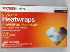 CVS Ultra Thin Heatwraps For Knee 12 Hours (Compare To Thermacare ) 06/2021