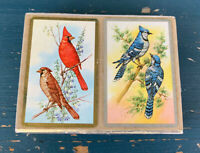 CONGRESS VINTAGE PLAYING CARDS CARDINAL,  EASTERN BLUE BIRD DESIGN