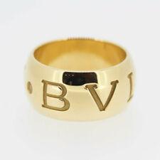 BVLGARI monologo Band Ring 18ct oro giallo