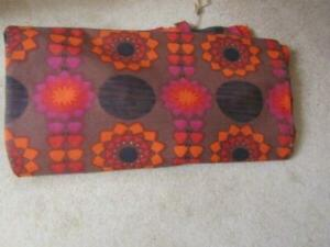 Single Bright Mid Centry Retro 1960s/70s Curtains Mary Quant Style