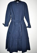 Uniqlo U Cotton Long Sleeve Shirt Dress in Navy Blue Size Small S