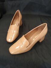 Next Signature Beige Block Heel Shoes - UK Size 6.5