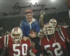 RAYMOND BERRY Signed Autographed 8x10 Photo New England Patriots NFL HOF