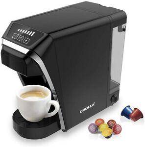 Chulux Kapselmaschine Kaffeemaschine 2 in 1 Kompatibel mit Nespresso/Dolce Gusto