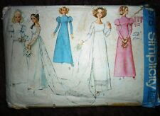 VINTAGE RARE 1960s SIMPLICITY WEDDING DRESS USED SEWING PATTERN SIZE 12 BUST 34""