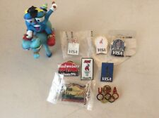 Lot Of 8 Atlanta 1996 Summer Olympic Olympics Pins & Figure VISA Budweiser AT&T