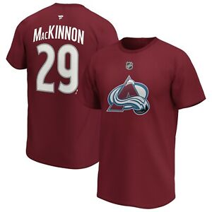NHL T-Shirt Colorado Avalanche Nathan Mackinnon 29 Iconic Burgundy Jersey