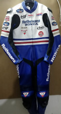 RACING HONDA ROTHMAN'S MOTORBIKE LEATHER SUIT CE APPROVED