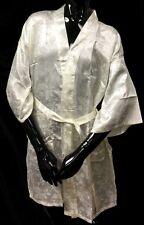 New Women's Japanese Kimono Satin Bath Robe Peal Flower Ladies Lounge Sleepwear