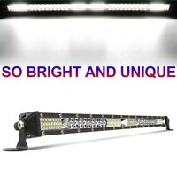 Slim 22inch 520W Straight Led work Light Bar Spot Flood Offroad SUV TRUCK