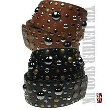 Womens Cheap Fashion Large UK PU Leather Bubble Studded Design Waist Belt wm07