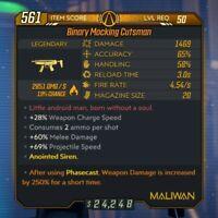 God Roll Anointed Fire Cutsman [PC] Lvl 50 Legendary - BL3 (Borderlands 3)