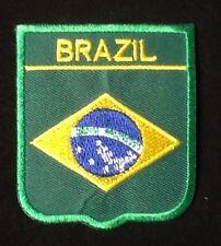 Brésil Brésilien NATIONAL DRAPEAU BADGE repasser patch à coudre écusson bouclier