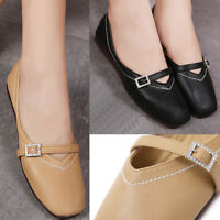 New Women Ladies Casual Mary Janes Shoes Flat Heel AU Size 6 6.5 7 7.5 8 1-013 s