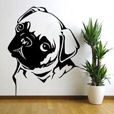 Mops Hund Pug Dog Wandtattoo Wallpaper Wand Schmuck 56 x 70 cm Wandbild